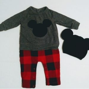 babyGap Mickey One Piece Outfit and Hat
